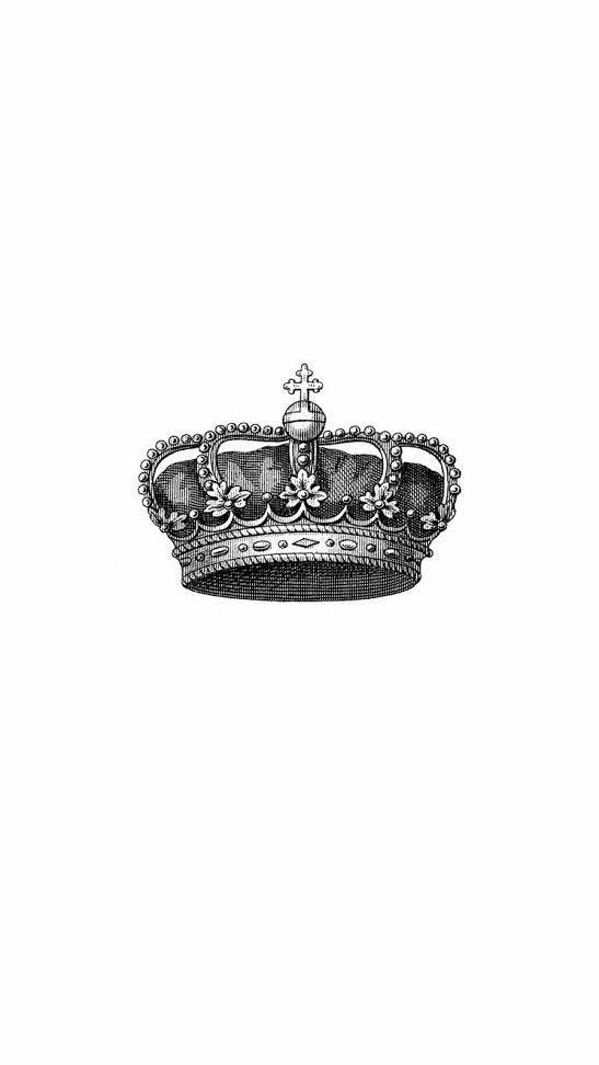 Iphone X Background 4k Crown White Download Free Gambar Hitam Seni Anime