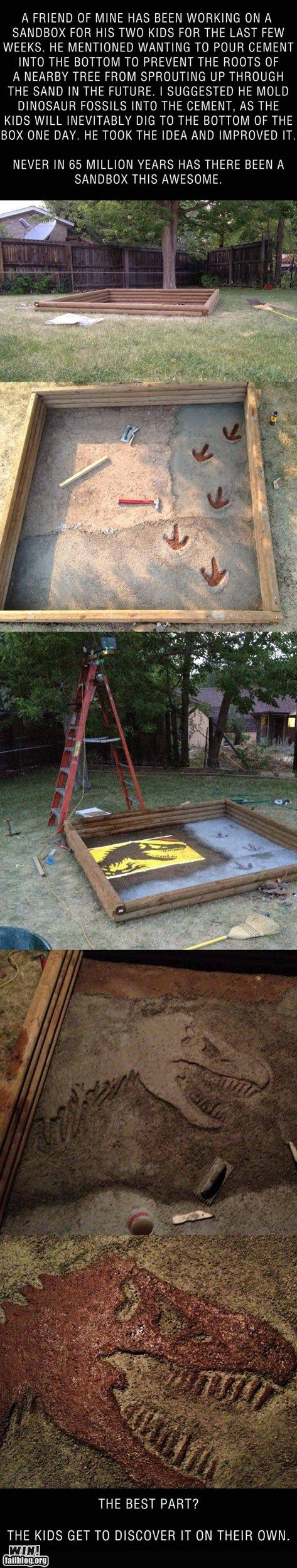 Greatest sandbox ever! We're sooo doing this when we have kids!