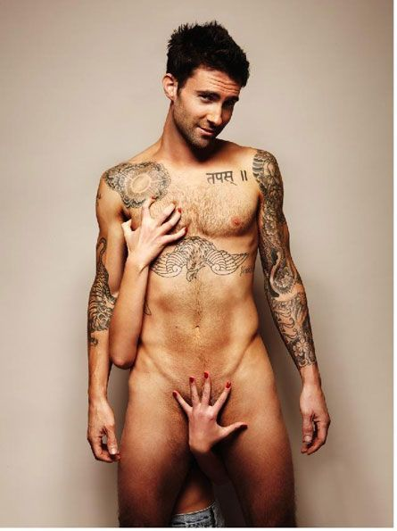 """Thank you Adam Levine for posing for the """"Everyman"""" foundation to raise awareness about testicular cancer =)"""