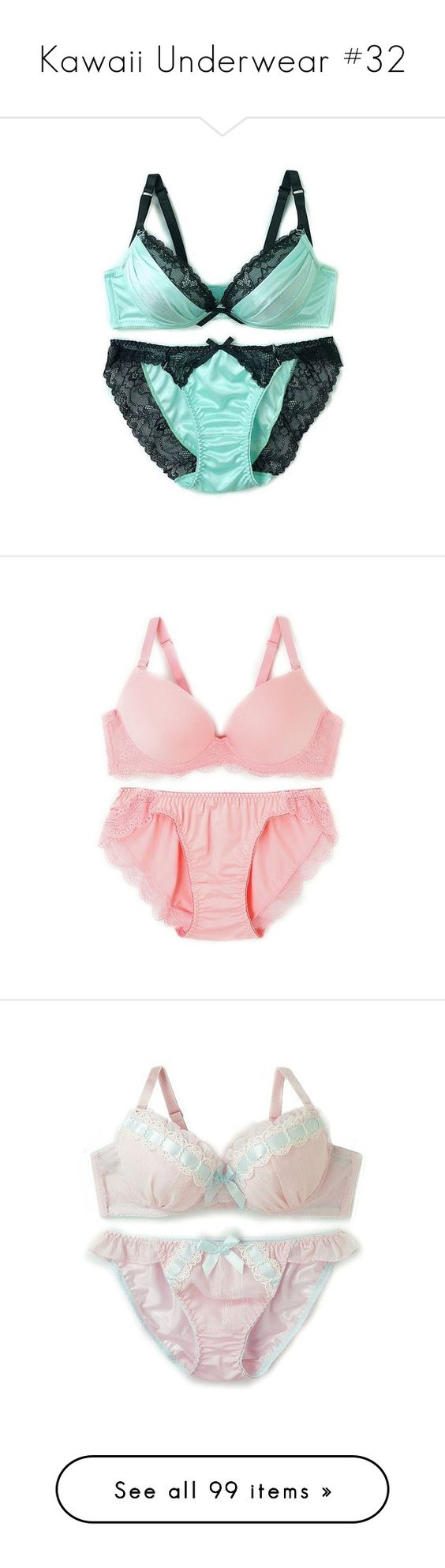 """Kawaii Underwear #32"" by yandereotaku ❤ liked on Polyvore featuring intimates"