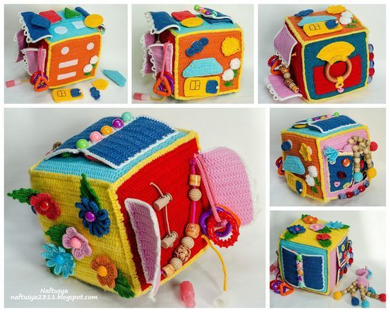 Dado Sensorial Para Bebés Juguetes De Bebé De Ganchillo Juguetes Didacticos Para Niños Juguetes Bebe