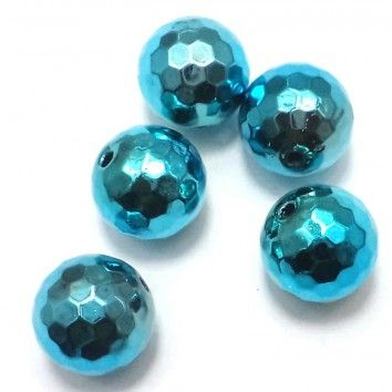 Faceted Metallic CCB Beads