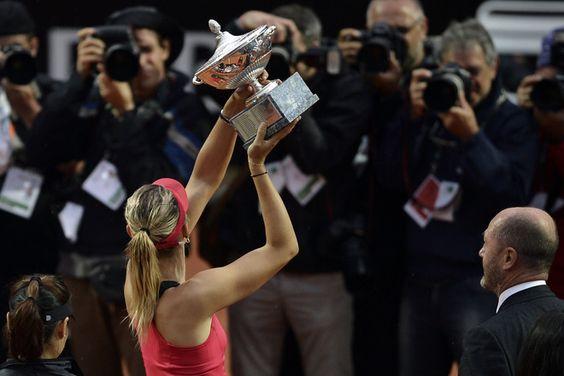 The will of a champion outlasts. Rain or shine. Maria Sharapova 2012 Rome champion!