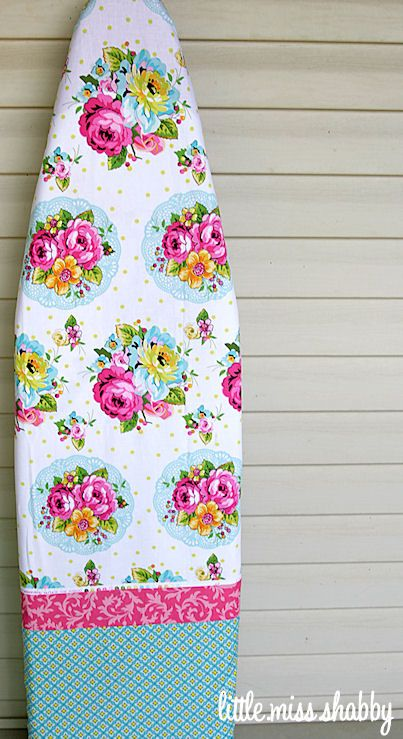 Ironing Board @ LMS - link to a few tutorials to make ironing board covers