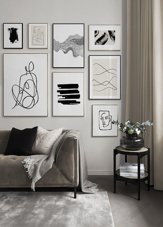 Gallery Wall And Picture Wall Inspiration Desenio Com In 2020 Galeriewand Wohnzimmer Kunst Furs Wohnzimmer Schone Wohnzimmer