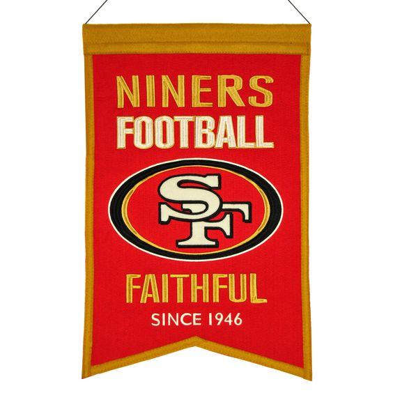 San Francisco 49ers Wool Franchise Banner