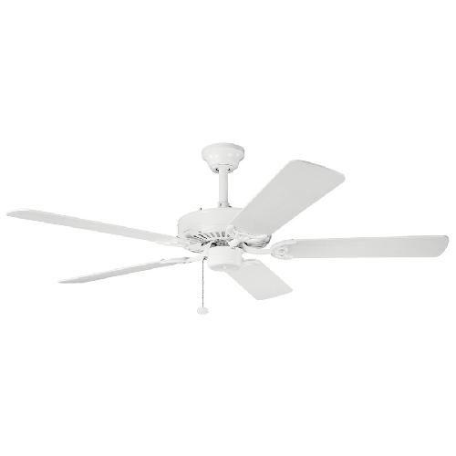 Ventilateur 52 pouces 339010 - WH Kichler Lighting - Sterling Manor Energy Star - Plafond Cahtédral