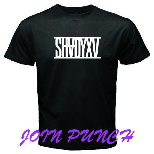 SHADY XV EMINEM Music Logo New1 Black White T-Shirt (Longslave&Hoodie Available) #Custom #BassicTee