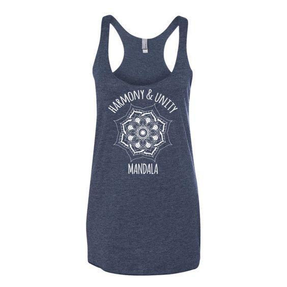 Mandala Harmony & Unity Ladies' Triblend Racerback Tank