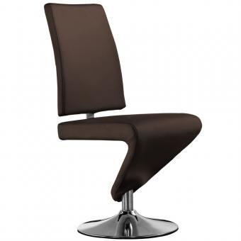 Chaise faster marron fonc 128 99 la chaise faster est un mod le moderne - Chaise confortable design ...