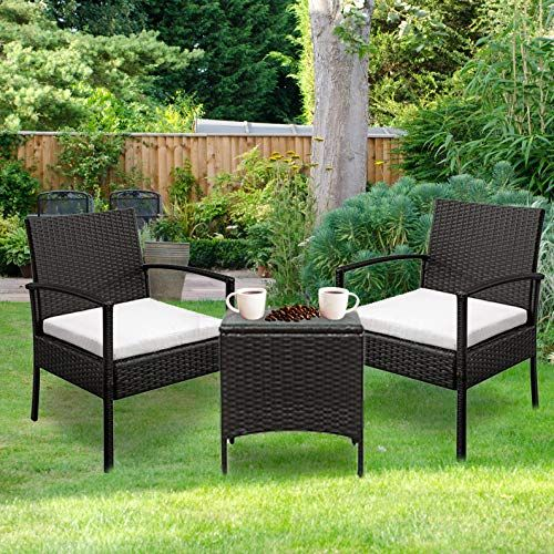 Mtfy Outdoor Conversation Sets 3 4 Pieces Rattan Patio Furniture Sets Wicker Garden Lawn Pool Backyard Sofa W Weather Resistant Cushions Rattan Patio Furniture