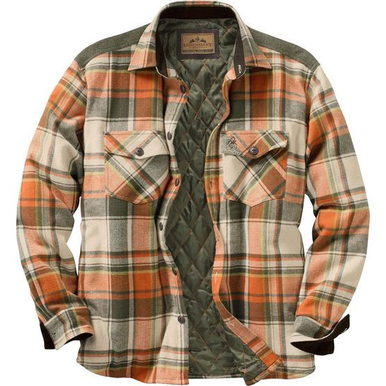 Men's Woodsman Heavyweight Flannel Shirt Jacket | Plaid, Colors ...