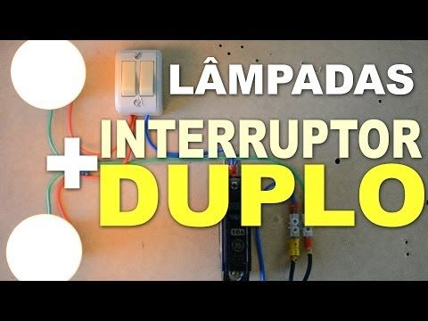 Instalacao Eletrica De 2 Lampadas Em Interruptor Duplo Instalacao Eletrica Interruptor Duplo Interruptor