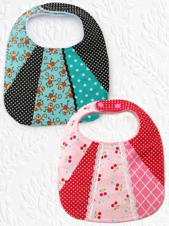 Bib3 Patchwork Baby Bib Pattern Set Of 2 Sewing