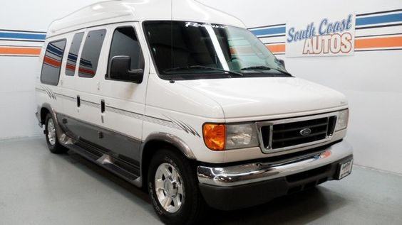 Silver 2004 Ford Econoline Cargo Van High Top Recreational Wagon V8 Automatic Used Conversion For Sale In Houston Texas 77008 Visit W
