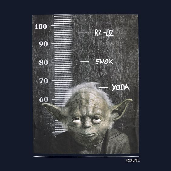 Star Wars - Jedi Height Chart T-Shirt navy