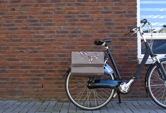 """FastRider Double Bicycle Bag """"Sakura"""" with an unique Zipper Combination Lock"""