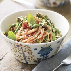 Get the family to eat their veggies by tossing in spaghetti and sauce.