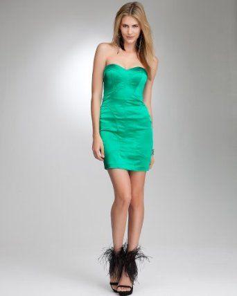 bebe Strapless Shiny Satin Mini Dress  Beauty  Pinterest  Satin ...