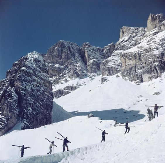 Cortina D'Ampezzo. Slim Aarons.: