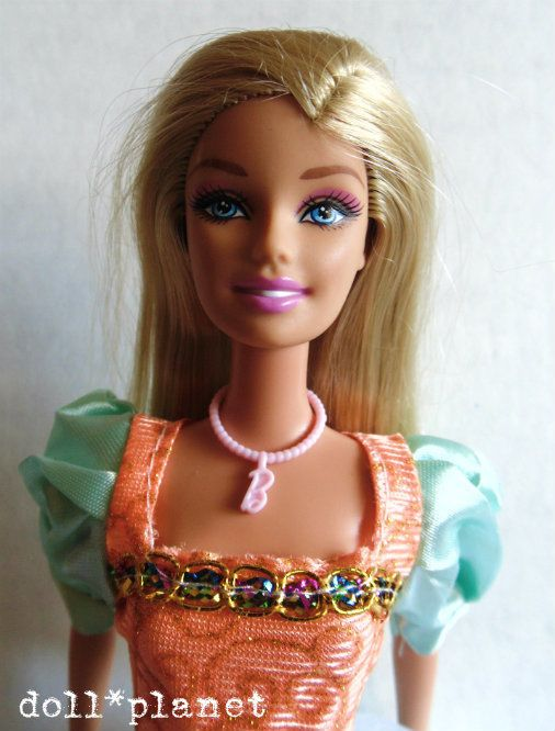 BARBIE DOLL + New Gown Shoes B Necklace Princess Fairytale for play or gift