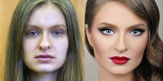 25 фотографий до и после макияжa! Никогда бы не поверил, что это одна и та же девушка...