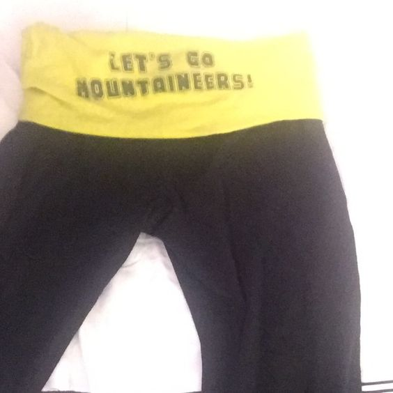 Yoga Pants With Words On Back