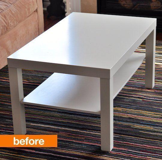 Ikea Lack Coffee Table, Can I Refinish An Ikea Table