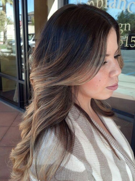 Caramel blonde highlights soft ombre instagram - Ombre hair caramel miel ...