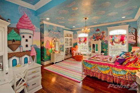 Candyland room this room makes me giddy i wish i were for Candyland bedroom ideas