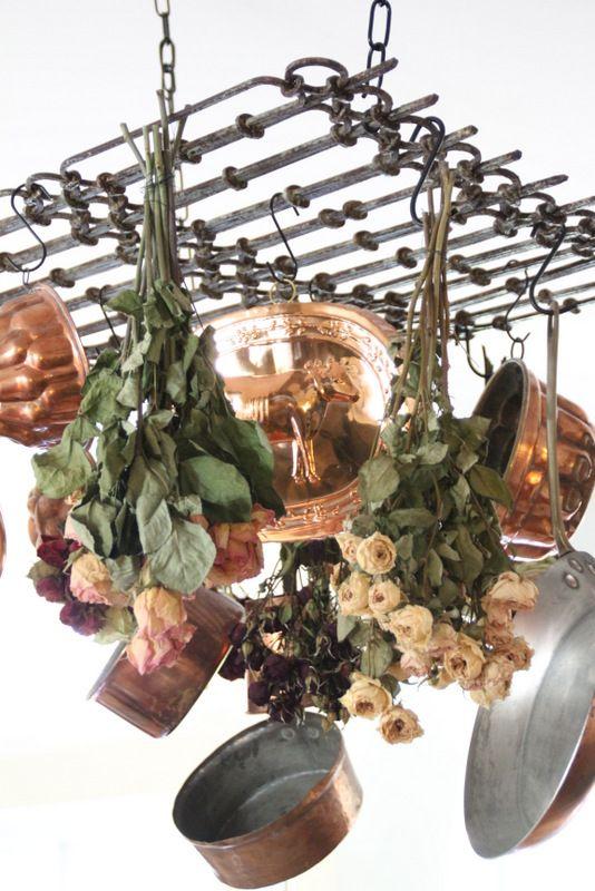 Savvy Southern Style Copper And Pot Racks On Pinterest