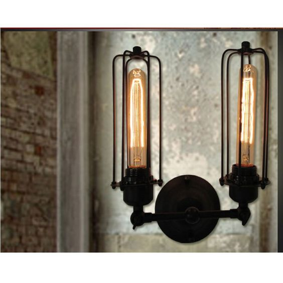Industrial Lighting Kensington Collection Vintage Edison Country Double Light