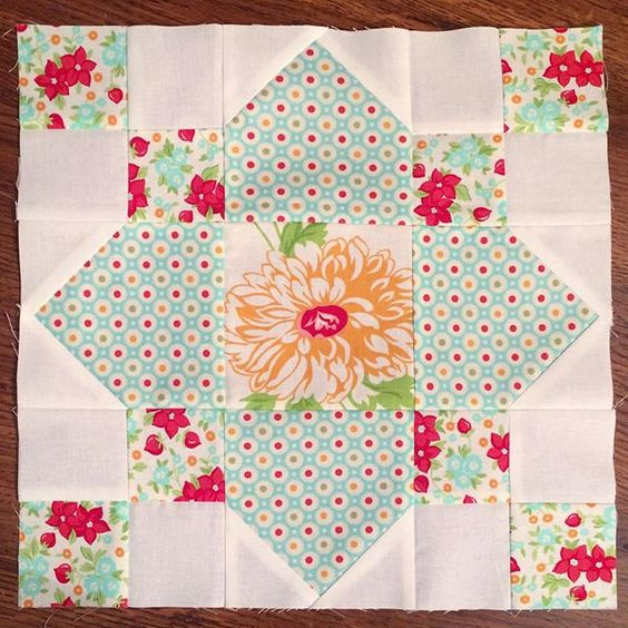 Thank you for this sweet block, Shelley! It's so pretty! @quiltsandcutiepies #bonnieandcamille #iheartbandcsamplerbeehive10 #webeelate