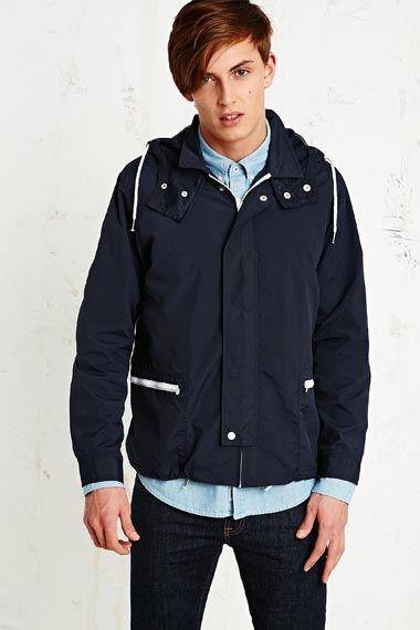 Native Youth Technical Windbreaker Jacket in Navy at Urban ...