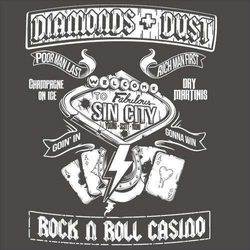 AC/DC T-shirt inspiriert von SIN CITY Rock N Roll Casino