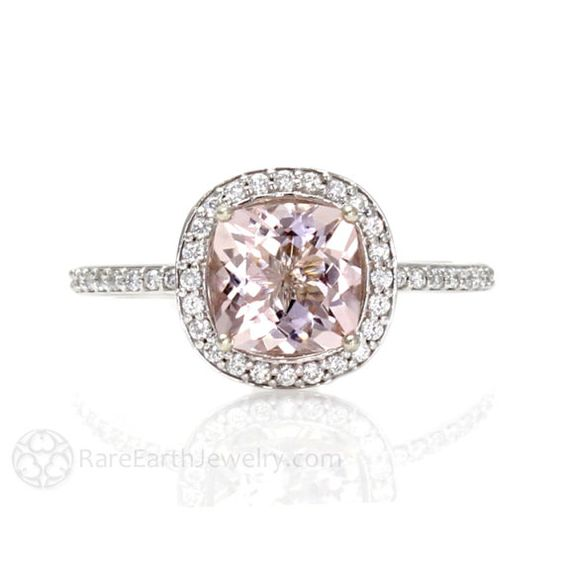 Hey, I found this really awesome Etsy listing at https://www.etsy.com/listing/165027027/cushion-morganite-engagement-ring