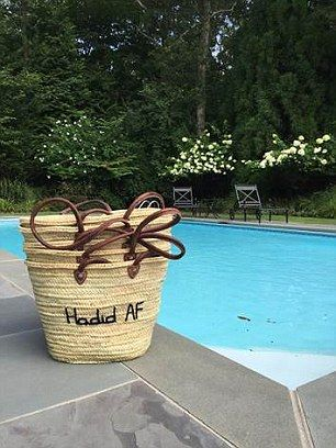 Family affair: The 'Hadid AF' bag was created especially for Gigi and her siblings by the founders of Poolside