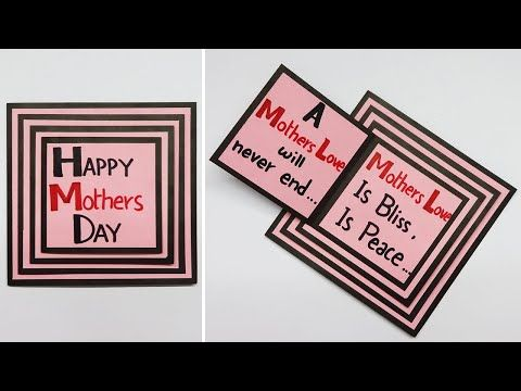 Hacks Land Youtube Happy Mothers Day Mother S Day Diy Mother S Day Greeting Cards