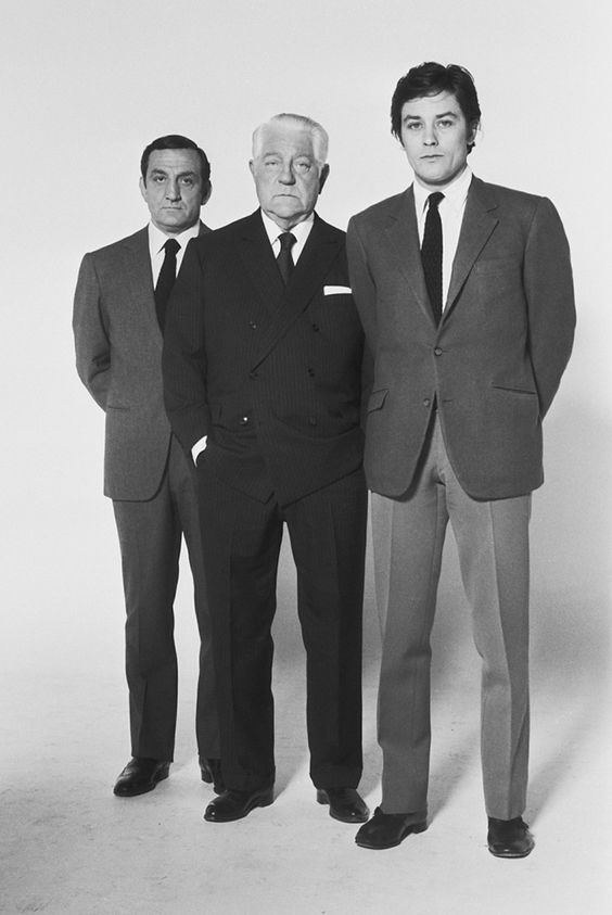 "Lino Ventura - Jean Gabin - Alain Delon in ""Le clan des siciliens"" (HenriVerneuil. 1969)"