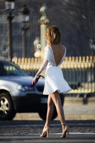 Rime Arodaky - Collection de robes de mariee courtes pour les mariages civils - La mariee aux pieds nus