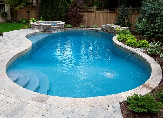 Pools spas and masters on pinterest for Residential pool designs