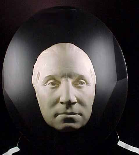 Like Abraham Lincoln, George Washington never actually had a death mask but he did have a life mask created.  Washington's life mask was made in 1785 by French sculptor Jean Antoine Houdon when Washington was fifty-three.
