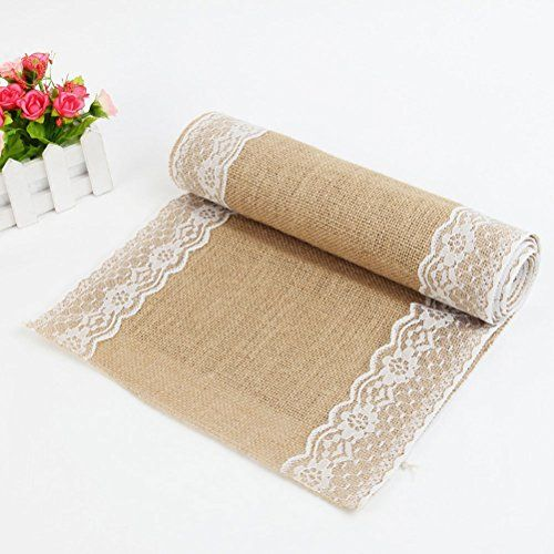"12"" x 108"" Burlap Jute Hessian Table Runner Tablecloth wi... https://www.amazon.com/dp/B0171YFAWA/ref=cm_sw_r_pi_dp_k9sAxbY22YYFM:"