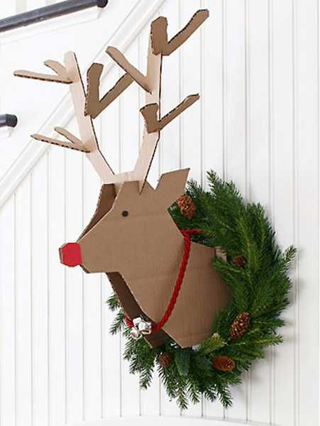 Christmas Craft Ideas On Modern Country Style: Make Your Own Wall-Mounted Rudolph