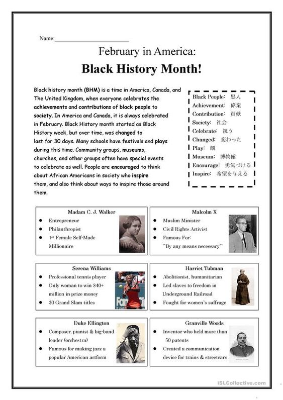 Black History Month!