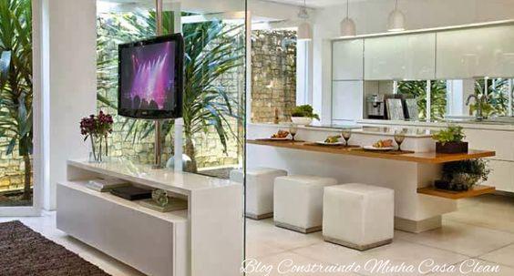 Sala De Jantar Lojas Americanas ~  Casa Clean 25 Cozinhas Integradas com as Salas! Veja como Decorar