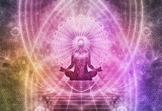 Abstrakt Meditation Konzept