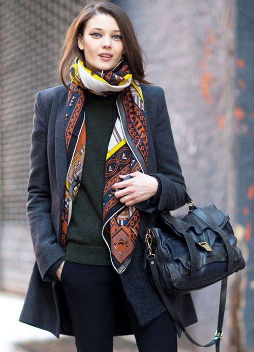 como usar lenço. como usar pashimira. como usar cachecol. acessorios de inverno. tendências inverno 2018. look outono. look inverno.