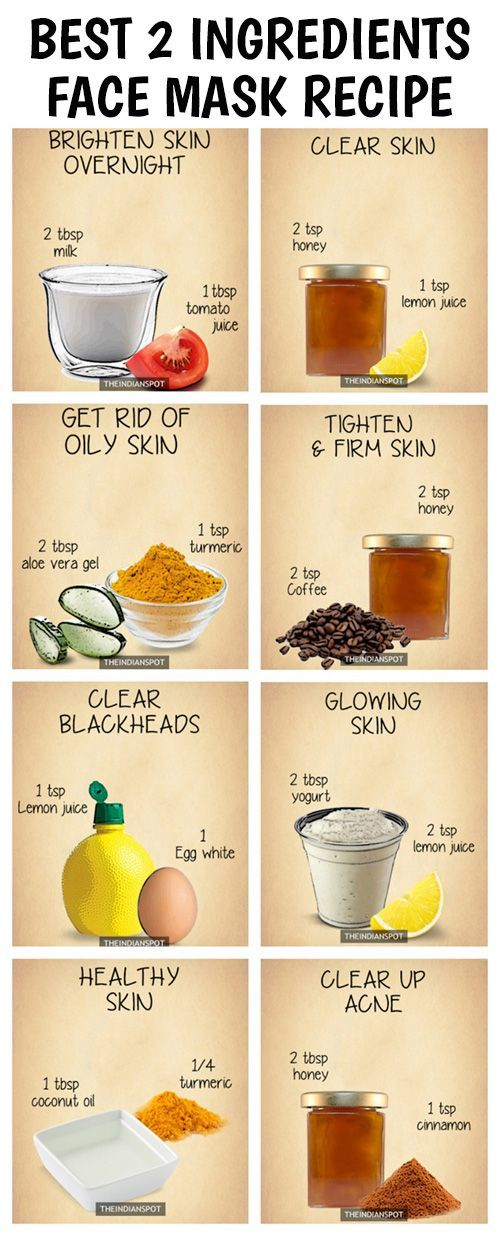 10 Amazing 2 ingredients all natural homemade face masks: