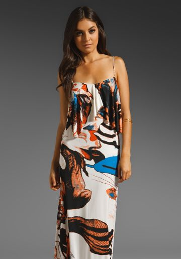 Great bold print on this maxi